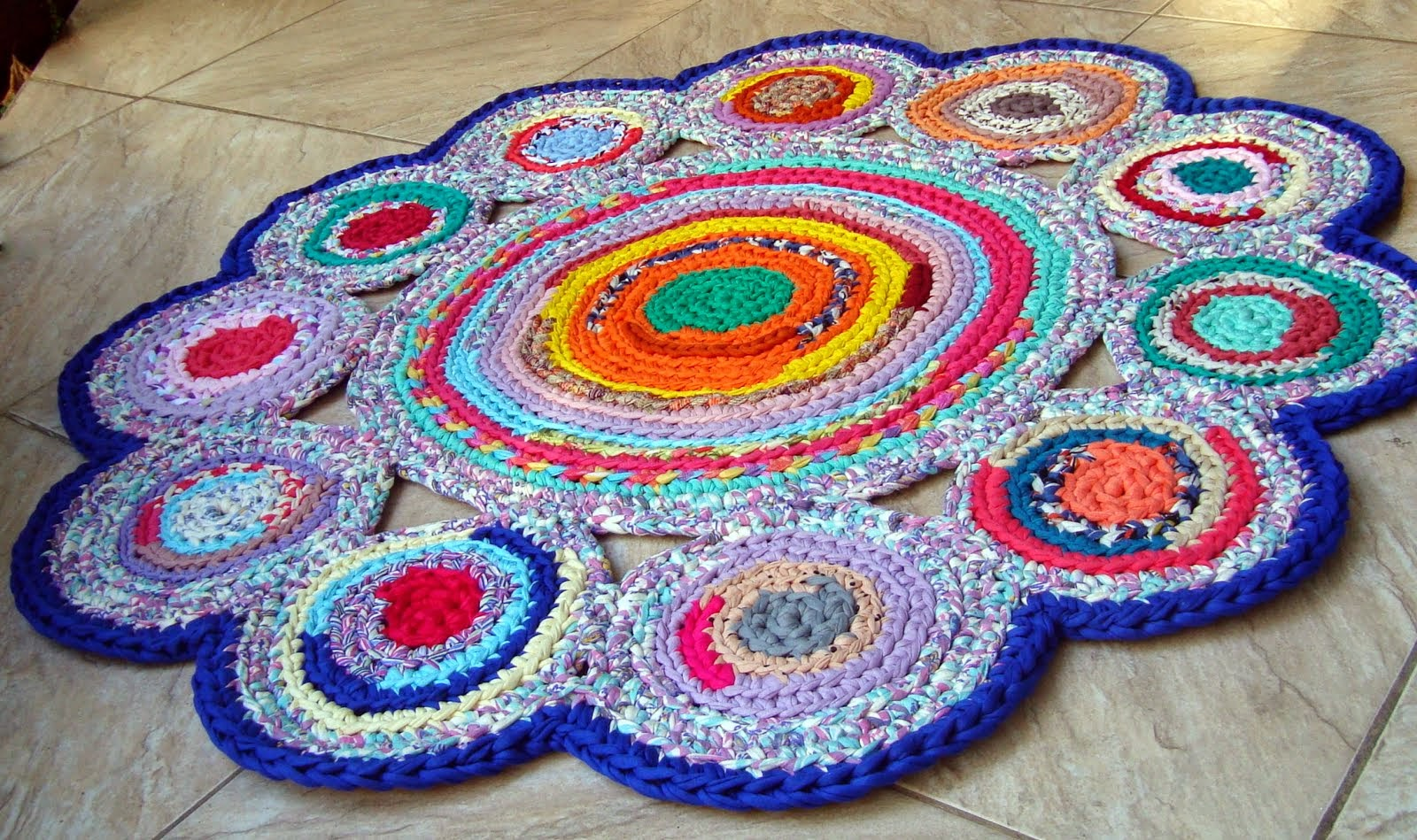 Фото вязание коврик