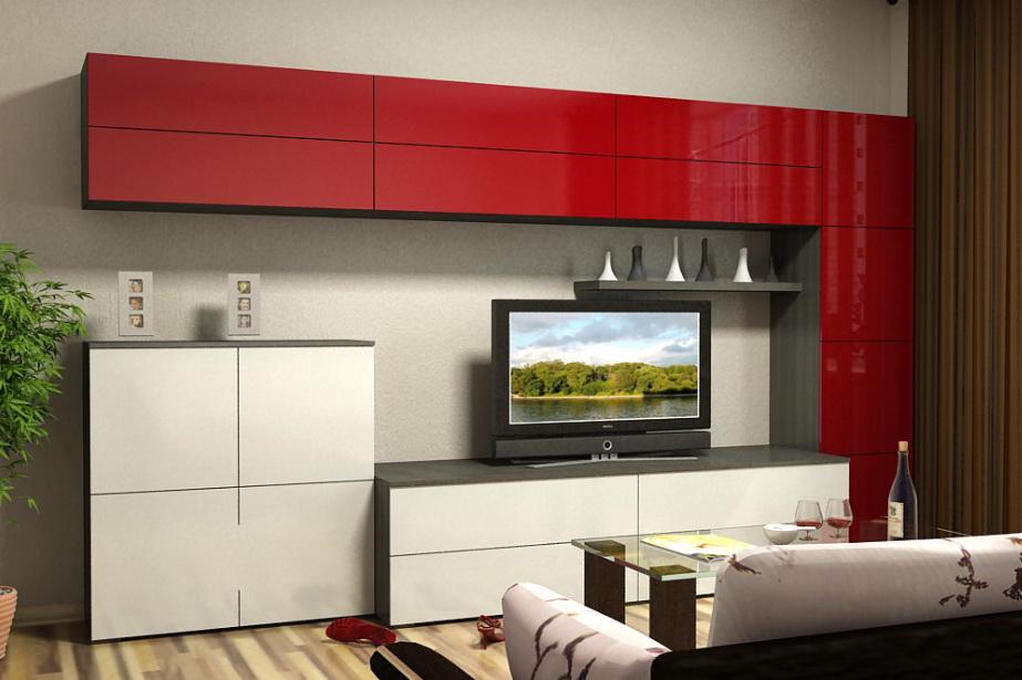 Мебельная стенка для гостиной (65 фото): белые модели в в ст.