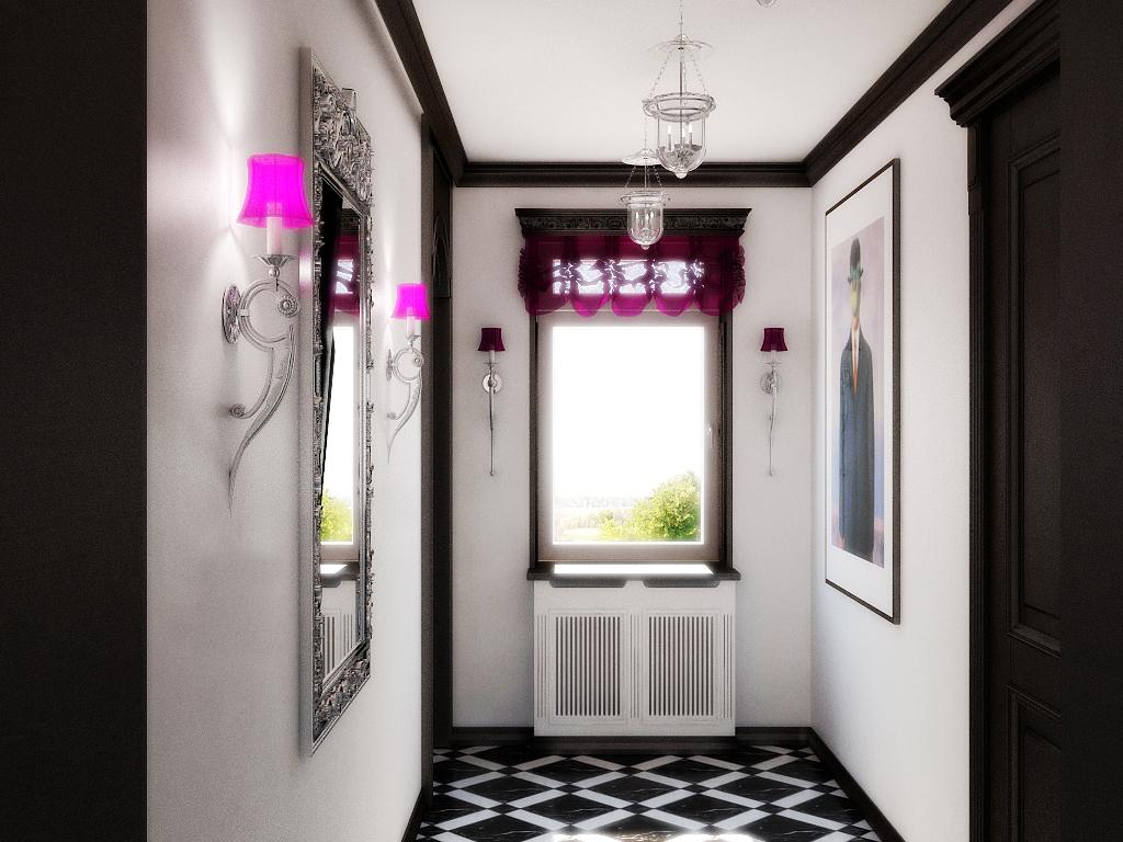 Дизайн окон в коридоре