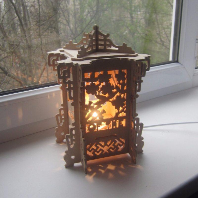 Светильники ночники из дерева