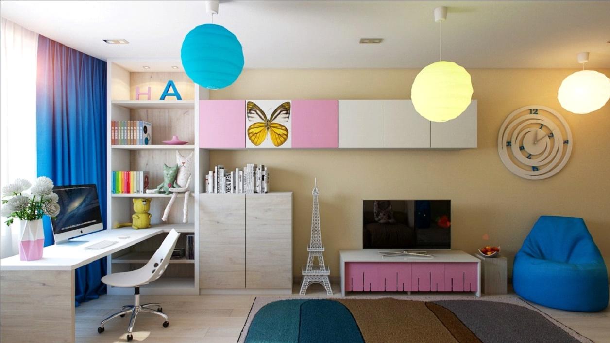 Освещение в детской комнате (54 фото): светильники для натяжного потолка в комнату мальчика-подростка и школьника, идеи современного дизайна 2020