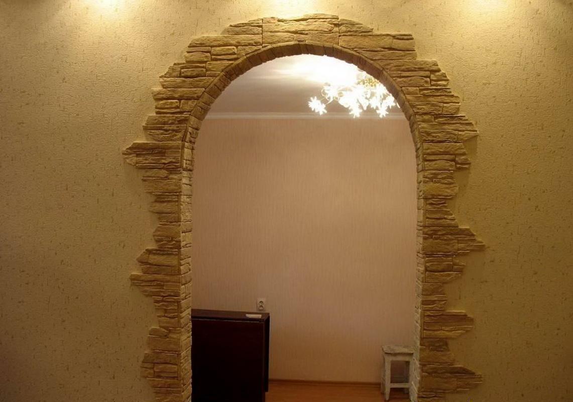 Декоративная отделка арки в квартире своими руками фото 769