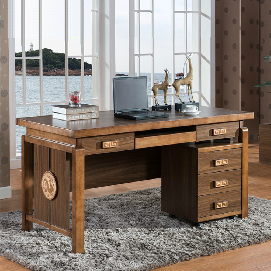 Письменный стол из массива дерева (49 фото): деревянные моде.