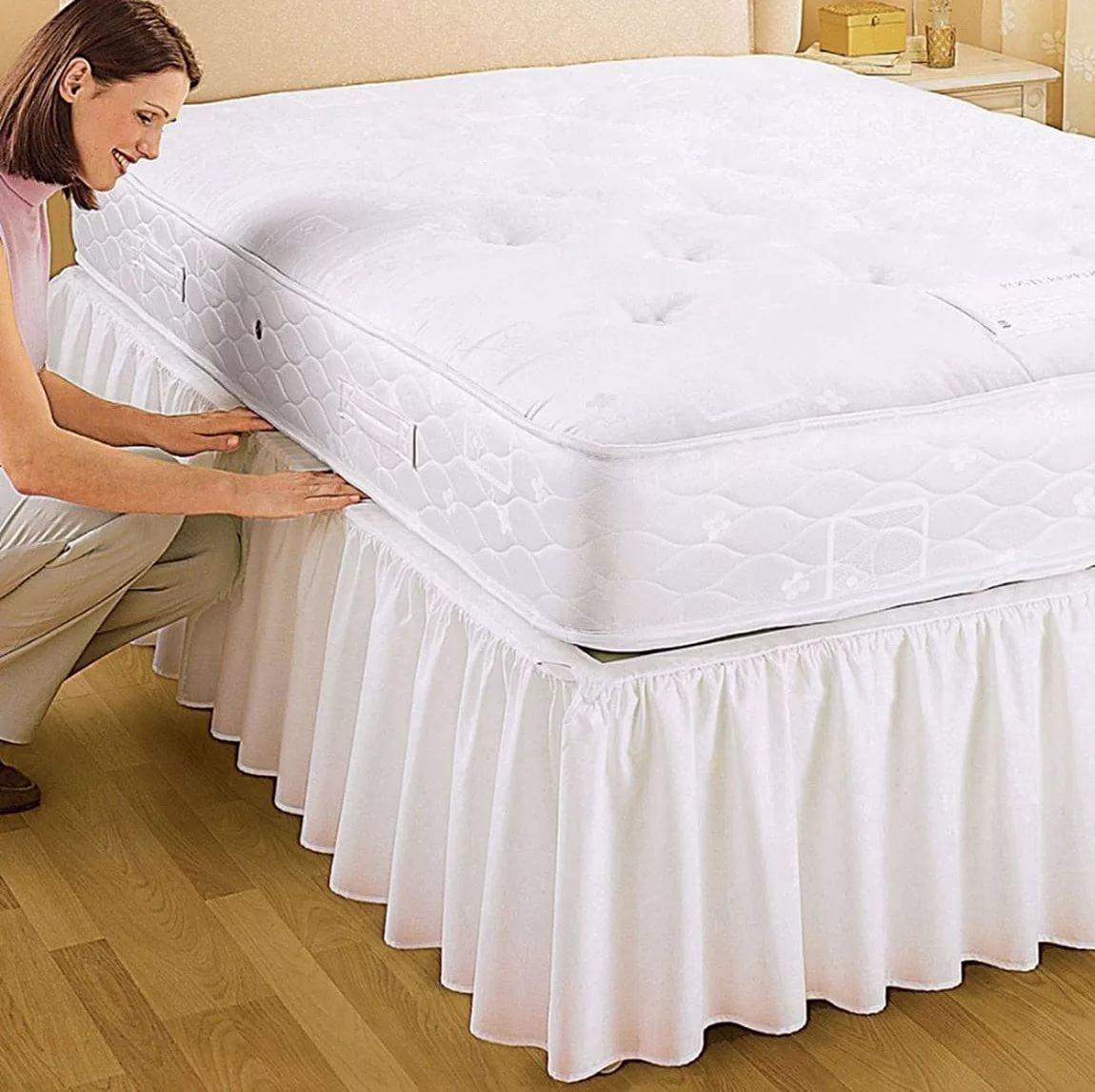 Как сшить на кровать подзор 37