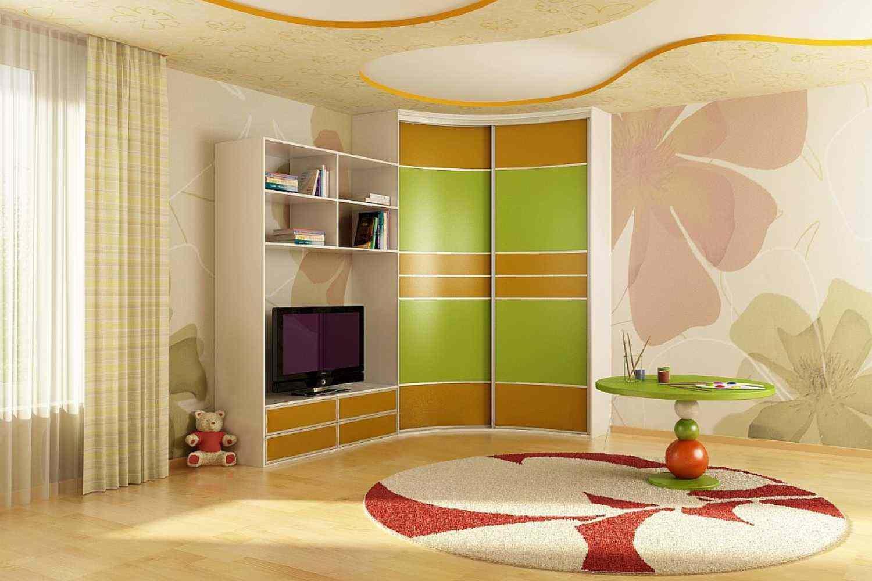 Радиусные угловые шкафы (36 фото): полукруглые распашные мод.