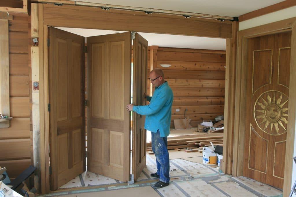 Двери гармошка для шкафа своими руками 69