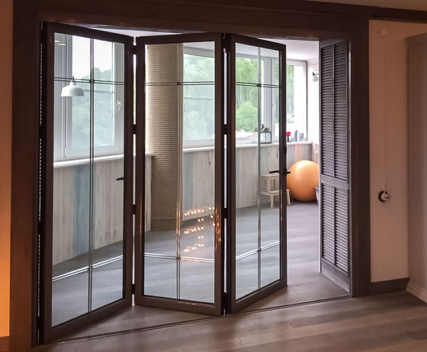 сдвижная дверь гармошка