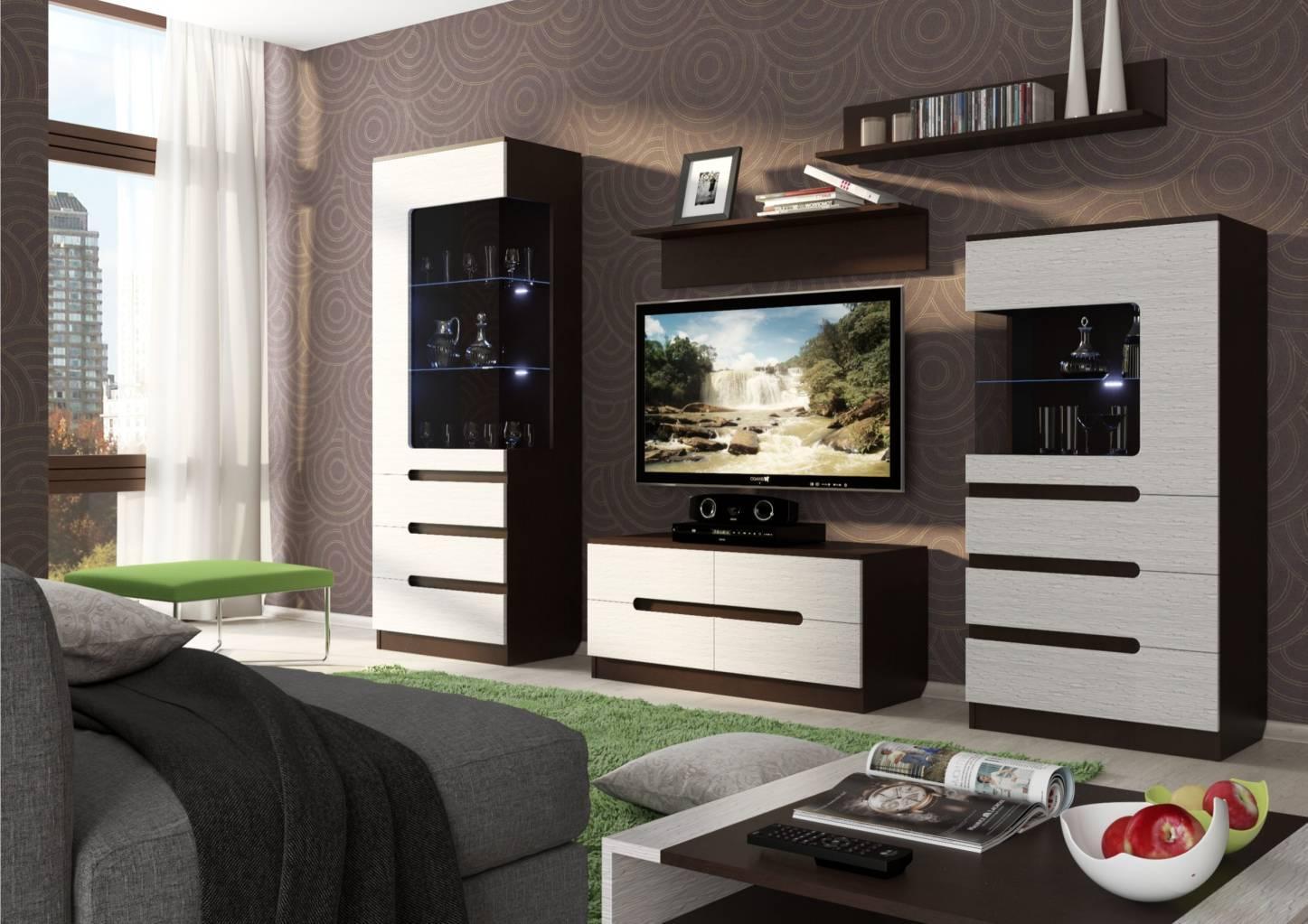 Стенка в гостиную (79 фото): выбираем красивые мебельные вар.