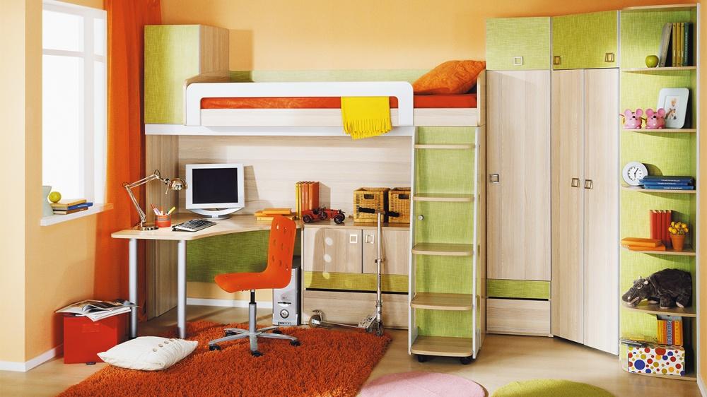 Стенка в детскую комнату (31 фото): модели угловой мебели дл.