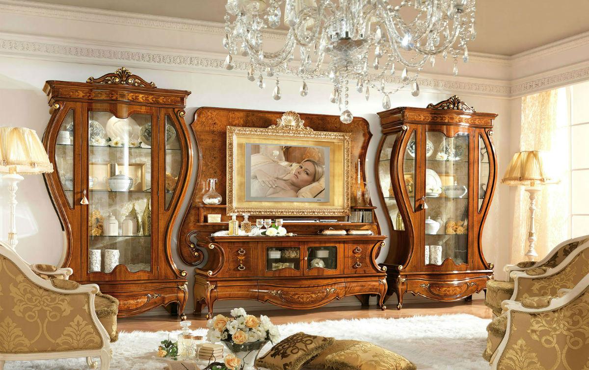 стенка в гостиную в популярном стиле классика 33 фото мебельные