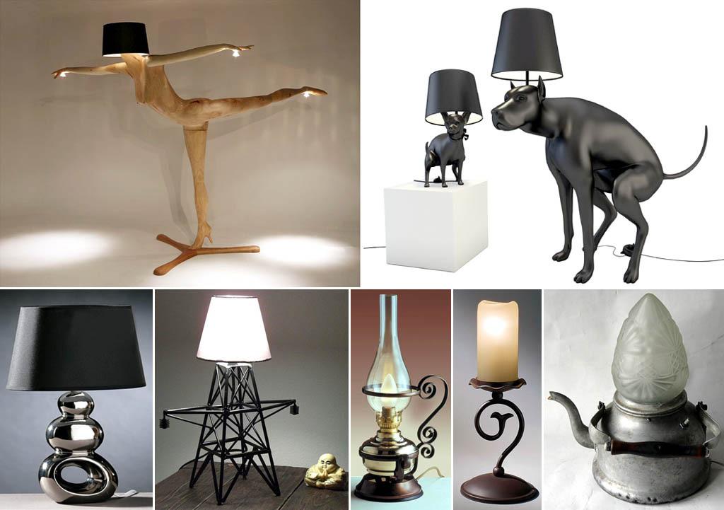 Животные в основании ламп