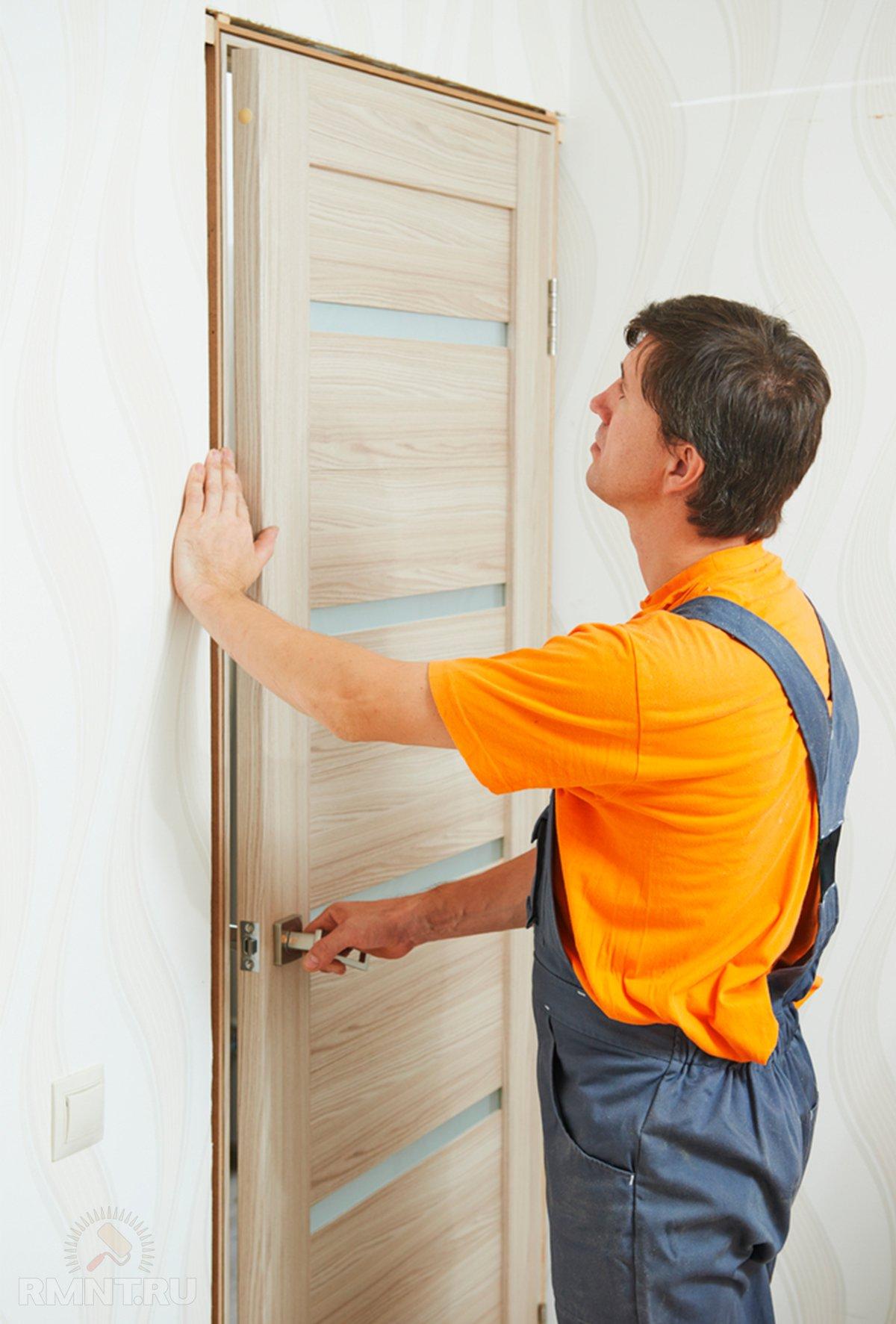 Схема установки раздвижных межкомнатных дверей -