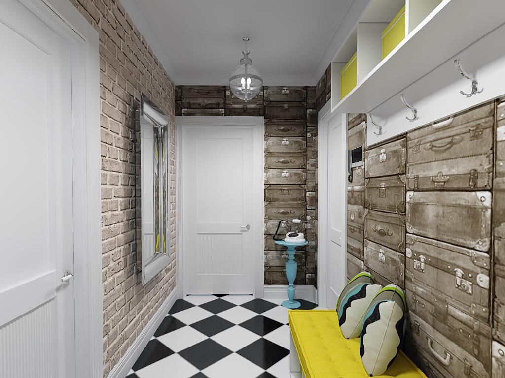 декоративные кирпичики на стену в коридоре фото