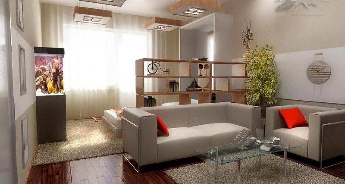 Дизайн комнаты 20 кв. м (52 фото): проекты оформления одноко.
