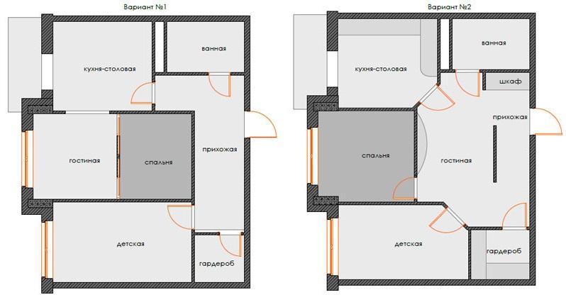Как сделать из двухкомнатной квартиры сделать трехкомнатную