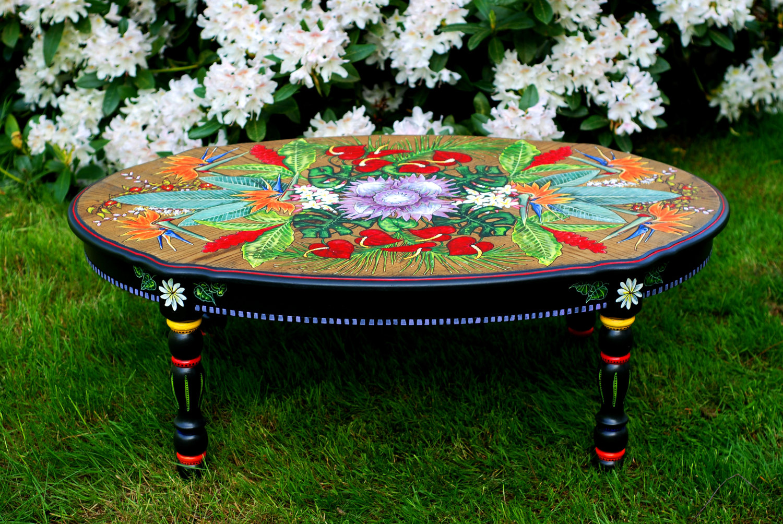 Как декорировать старый стол своими руками 856