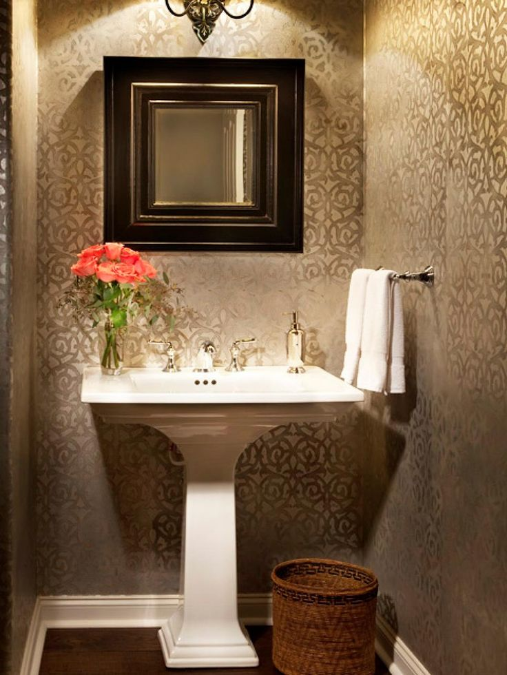 Elegant bathroom decor