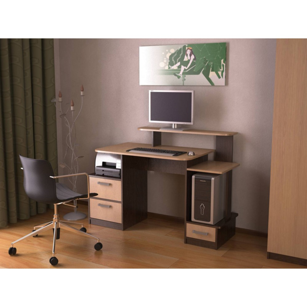 Маленький компьютерный стол (67 фото): выбираем малогабаритн.