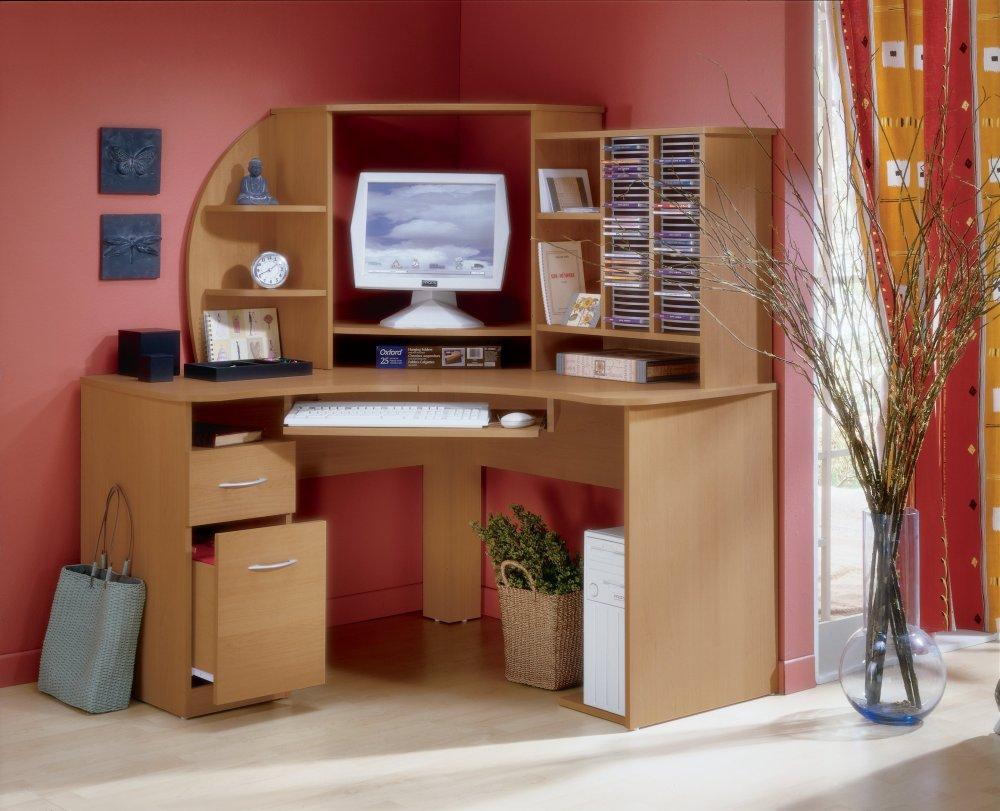 Компьютерный стол со стеллажом (33 фото): выбираем мебель дл.