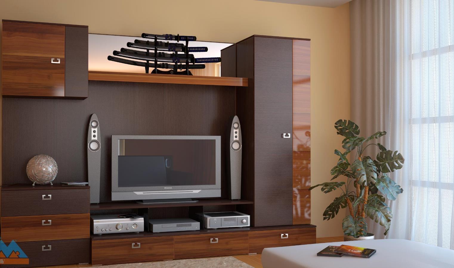 корпусная мебель для гостиной 75 фото набор в современном стиле