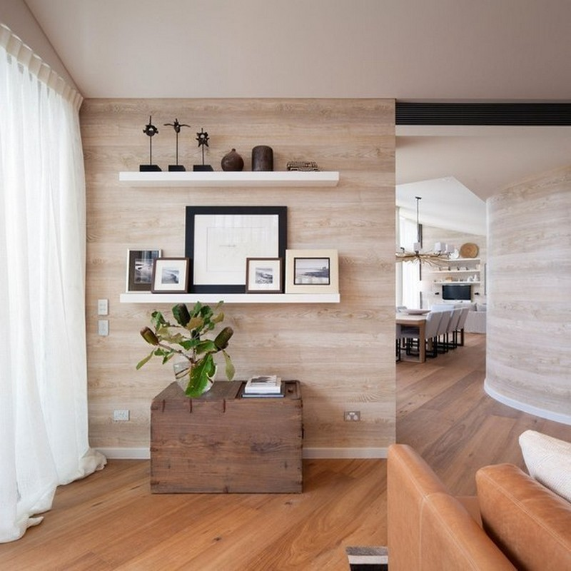 Ламинат фото в интерьере квартиры на стене