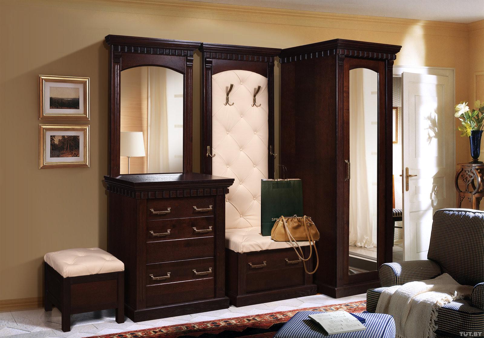 Мебель для прихожей в классическом стиле (64 фото): мебель в.