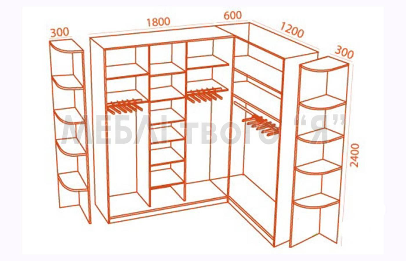 Схема углового шкафа купе фото 73