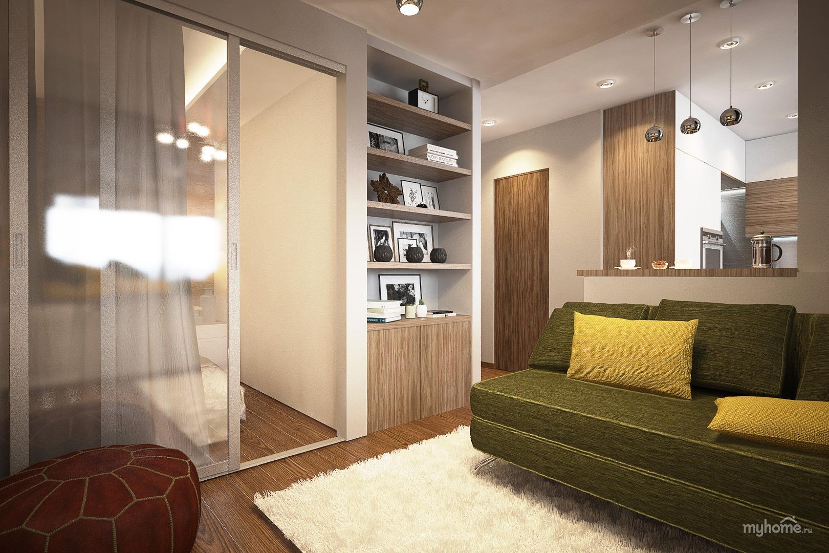 Интерьер однокомнатной квартиры фото 42 кв.м