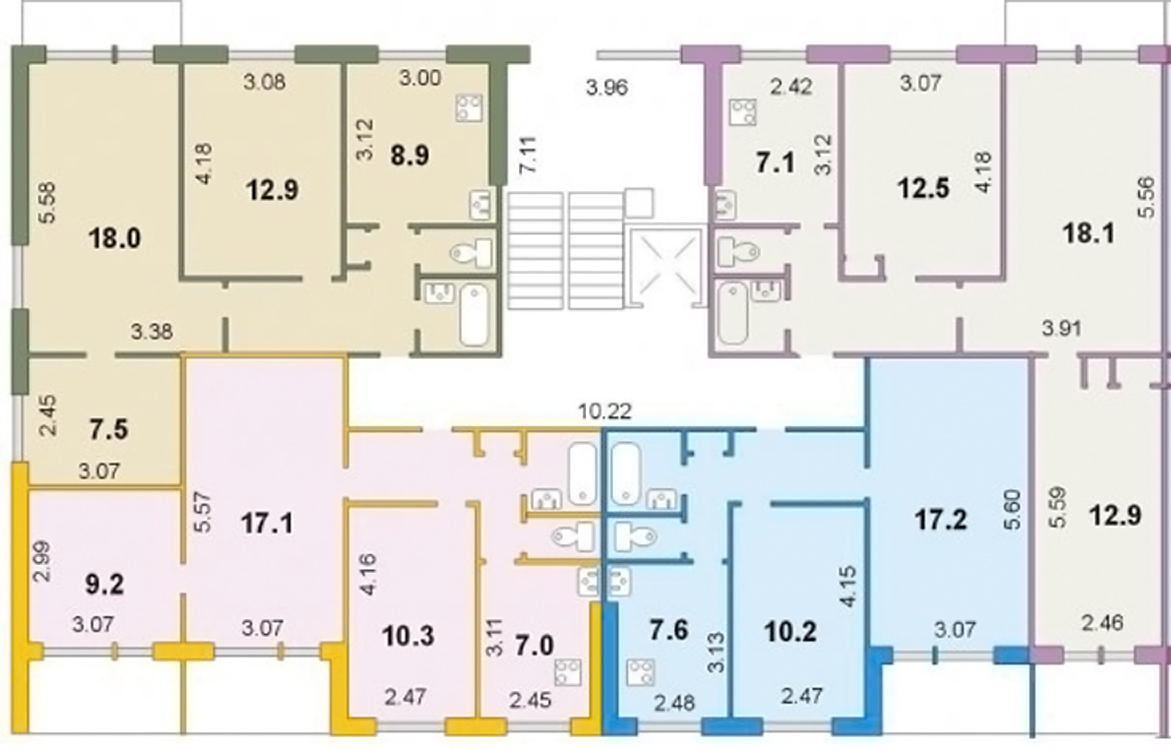 Планировка 3 комнатной квартиры (серии п 44, чешка
