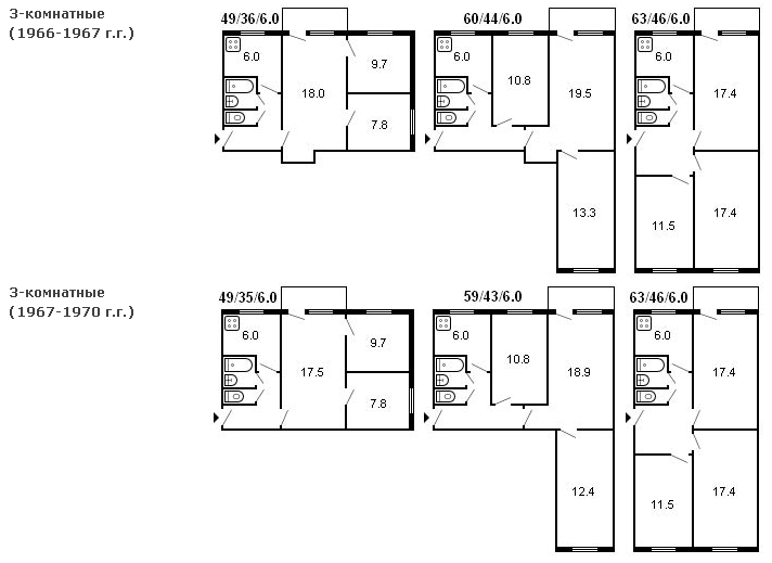 Ремонт 2-комнатной хрущевки с перепланировкой и без