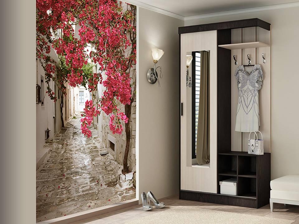внутрь дизайн коридора с применением обоев и фотообоев начальство приносит похвалы