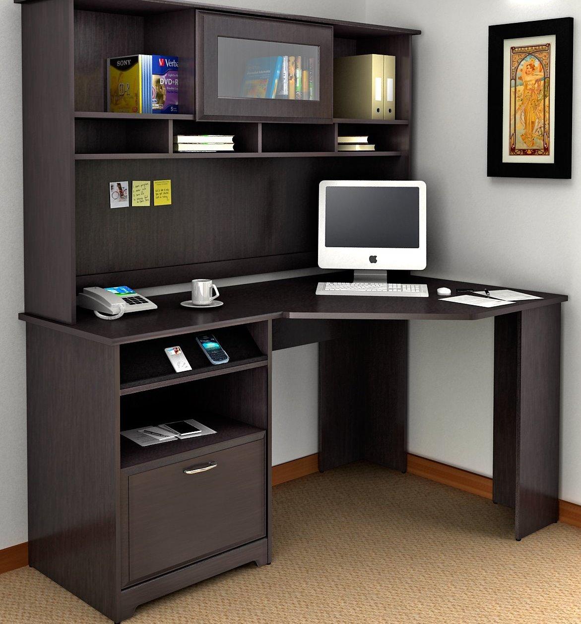 Письменный стол со стеллажом: дизайн конструкции-перегородки.