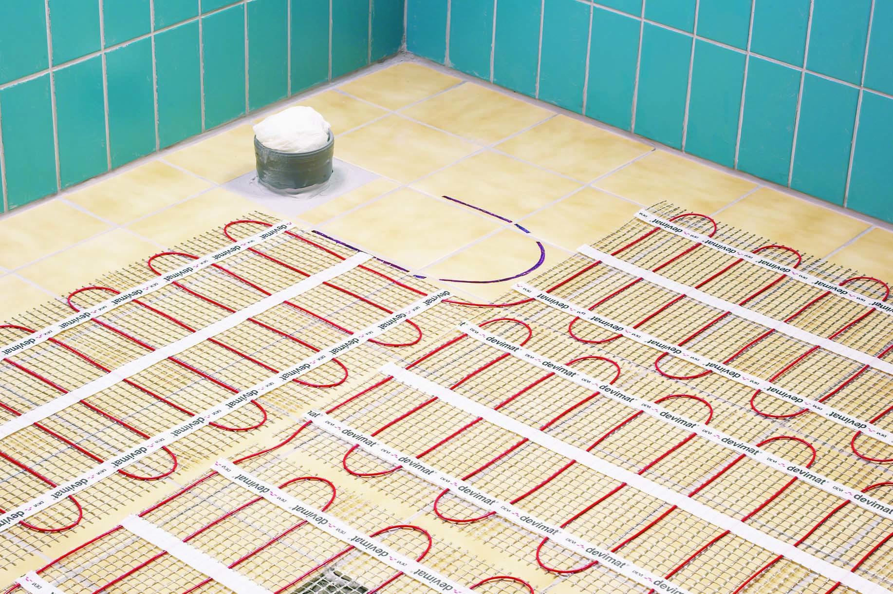 Теплый пол на кухне под плитку водяной своими руками 79