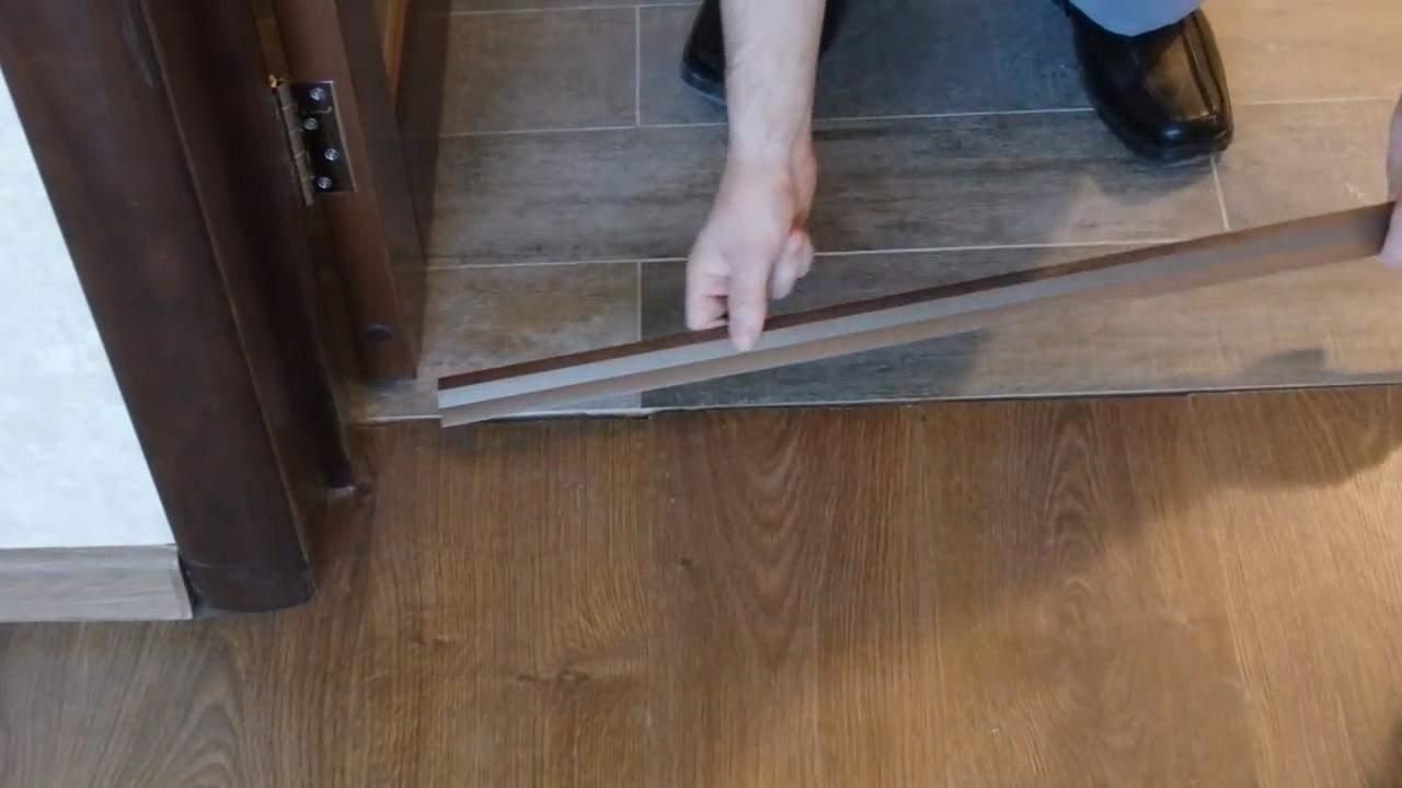 Стык ламината и плитки: методы совмещения