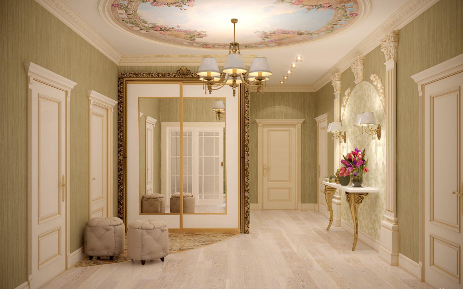 коридор в классическом стиле фото чтоб было мало