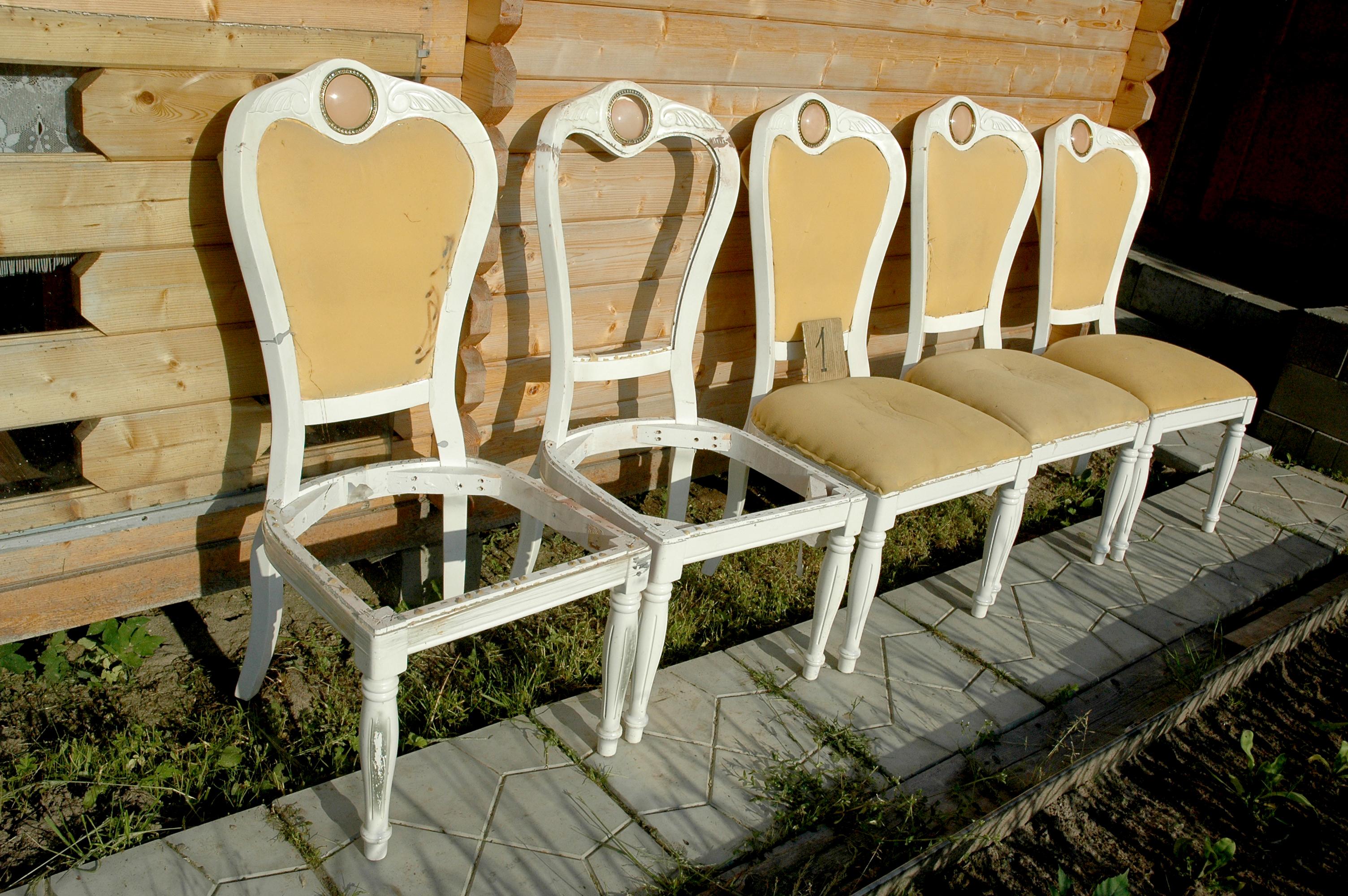 Реставрация старого стула своими руками фото