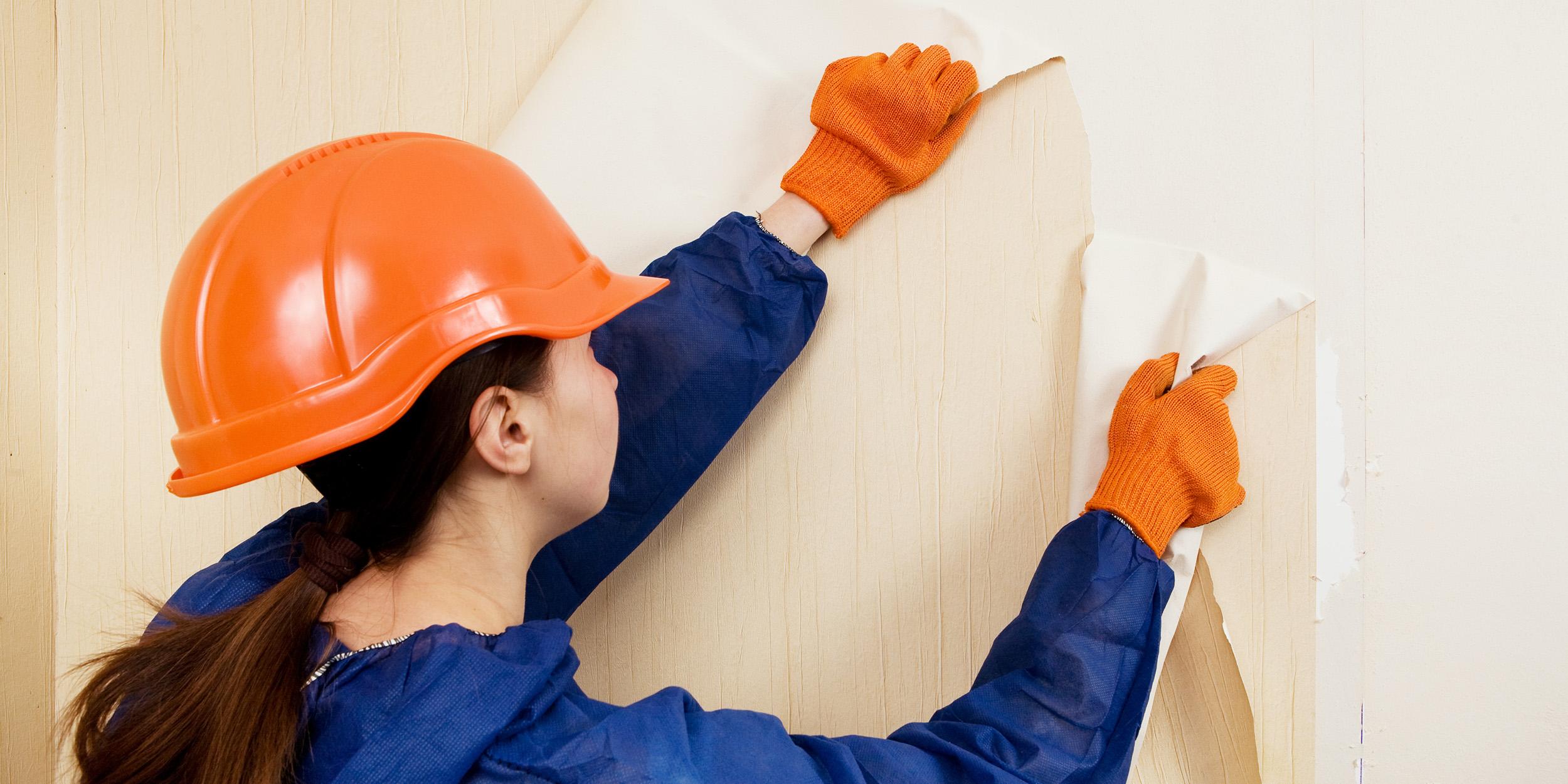 Как быстро снять старые обои со стен в домашних условиях 59