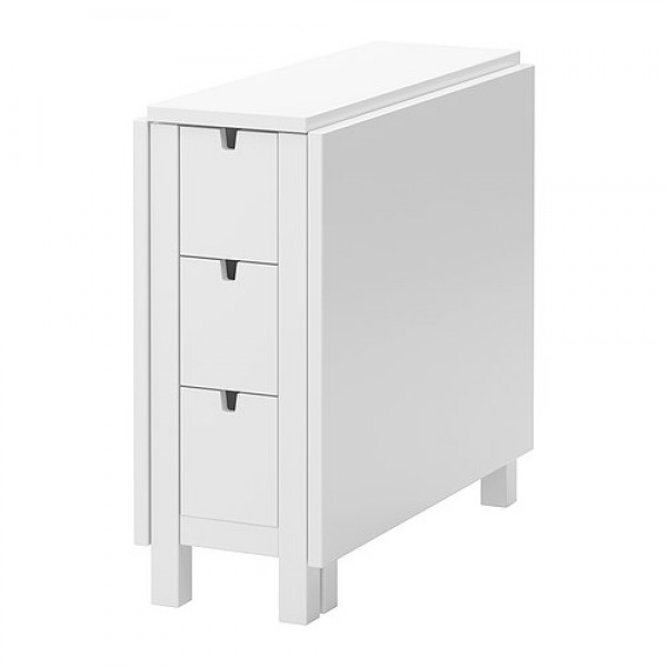 стол книжка Ikea белые модели с ящиками узкие раскладные варианты