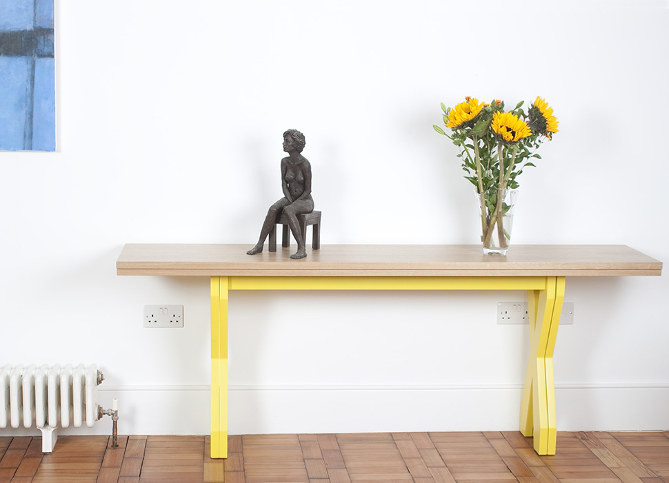 Console table in dining