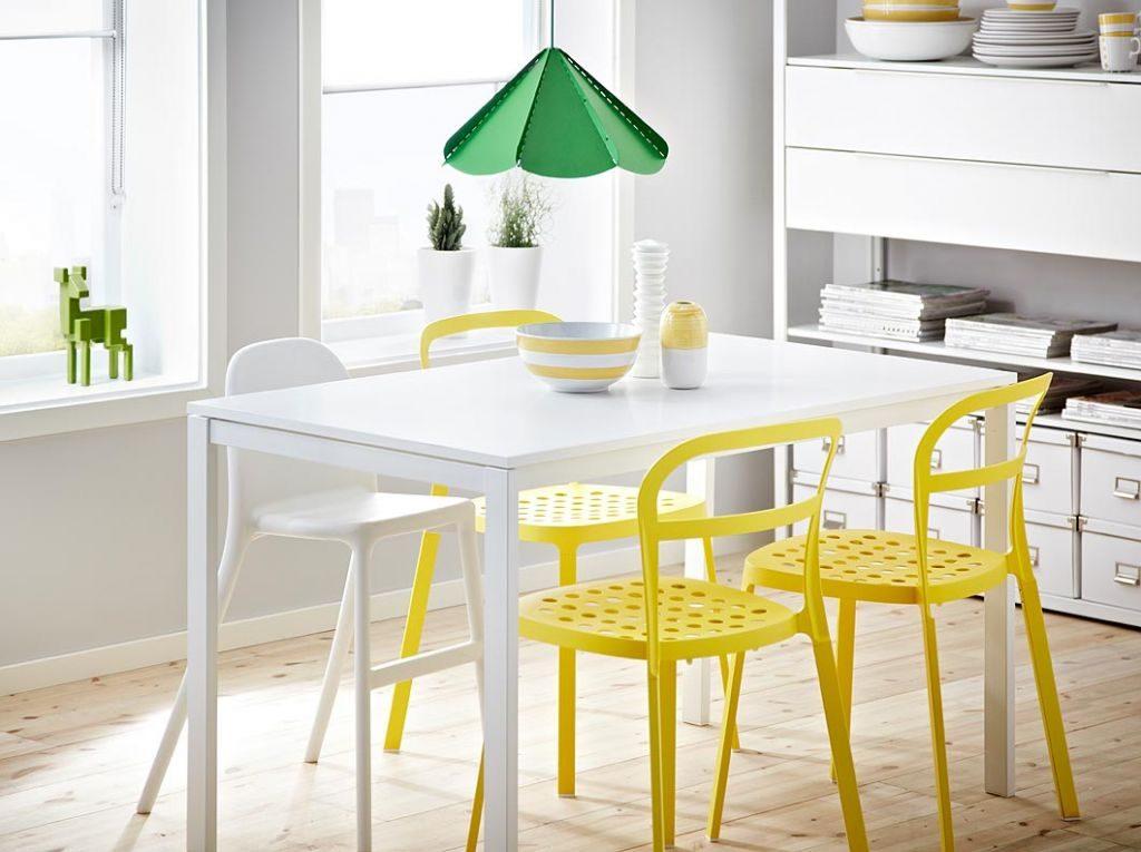 стулья для кухни Ikea в интерьере раскладные деревянные кухонные