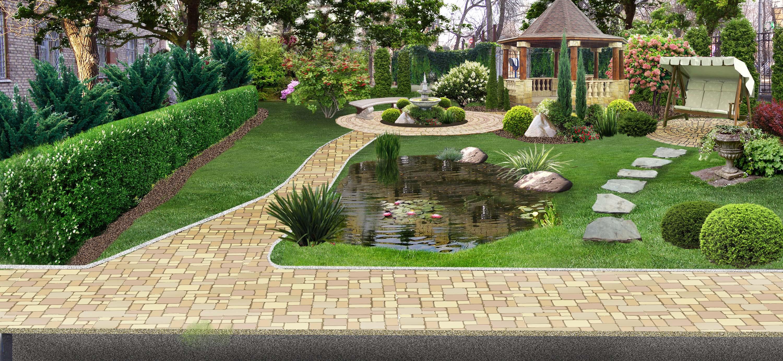 дизайн садового участка 12 соток фото и проекты 6