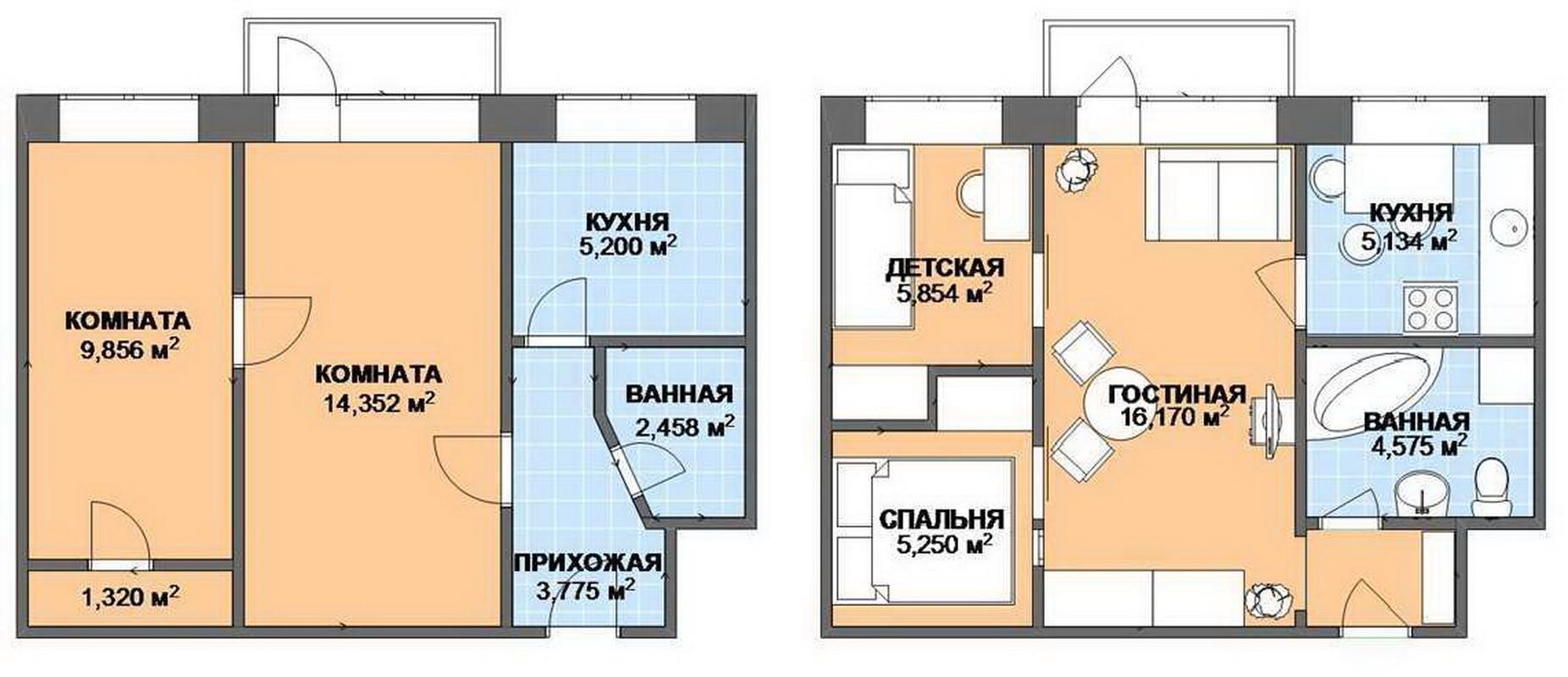 Обмен трехкомнатной квартиры на 84