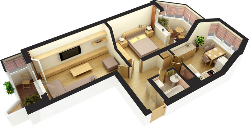 Интерьер и планировка квартиры-студии (77 фото