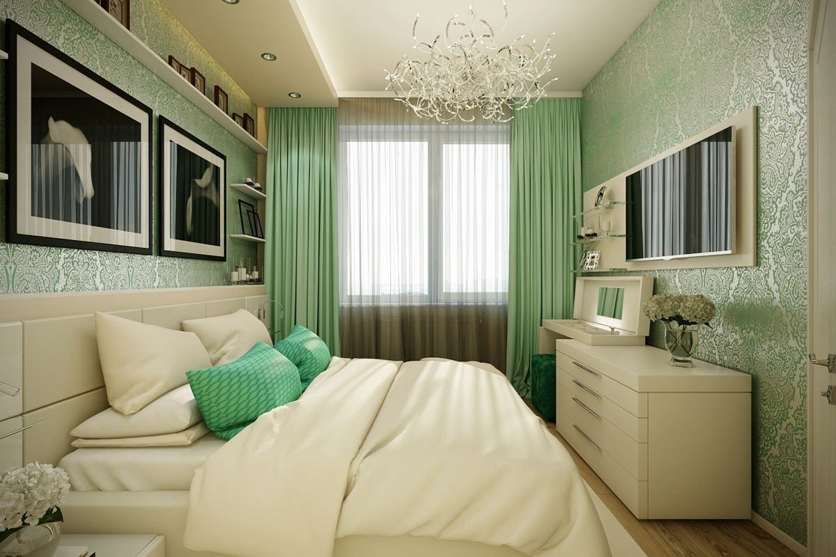 Подбираем обои для маленькой спальни, Дизайн интерьера