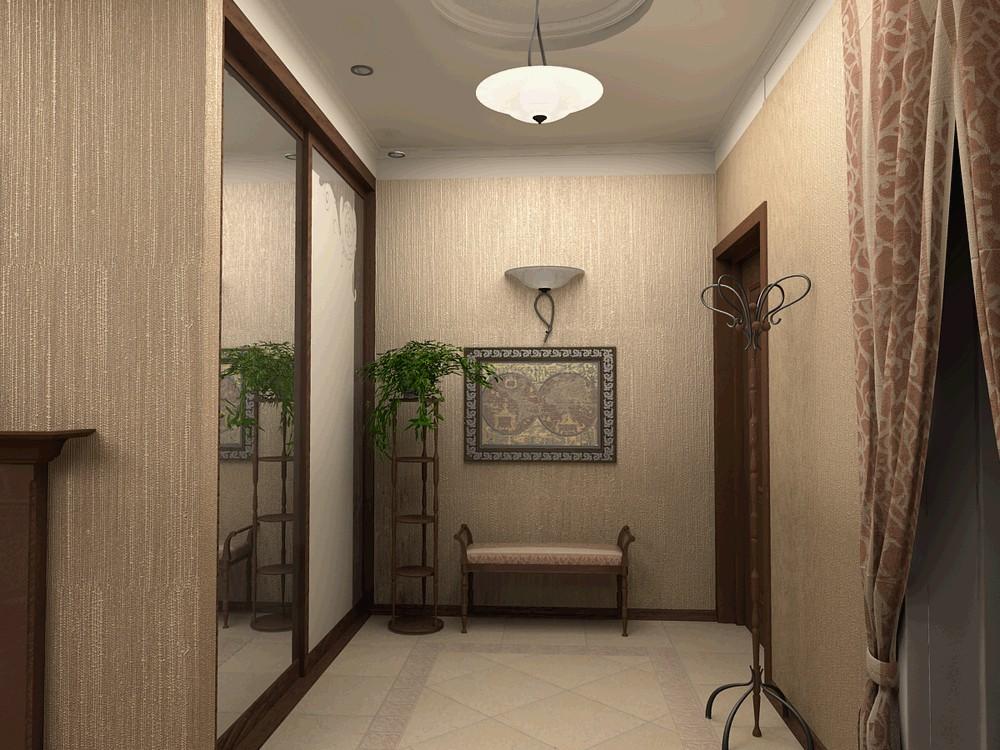 виниловые обои для прихожей и коридора фото