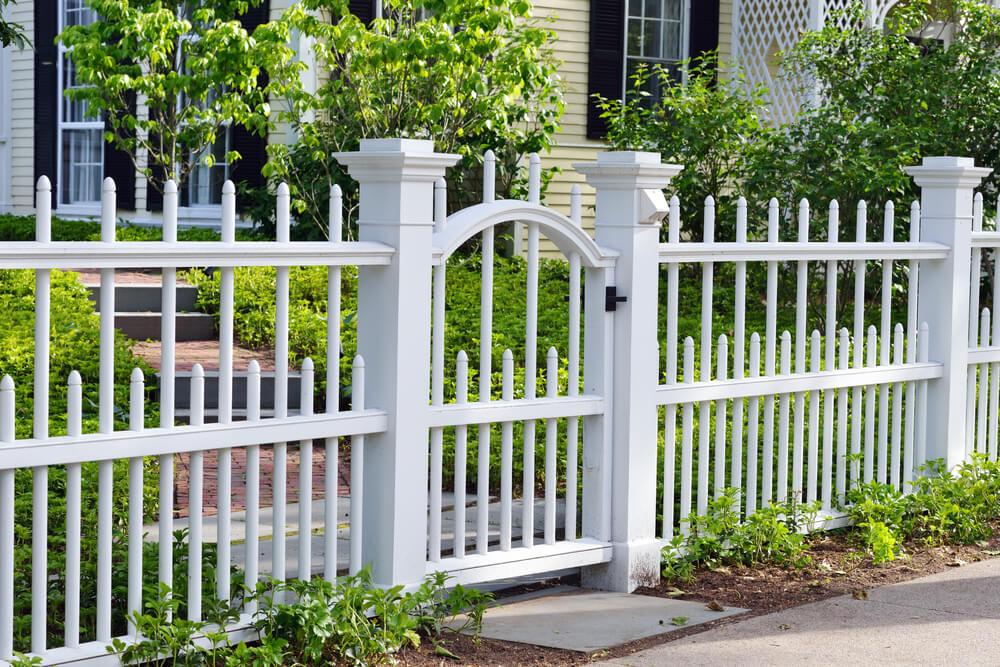 Забор перед домом своими руками фото 36