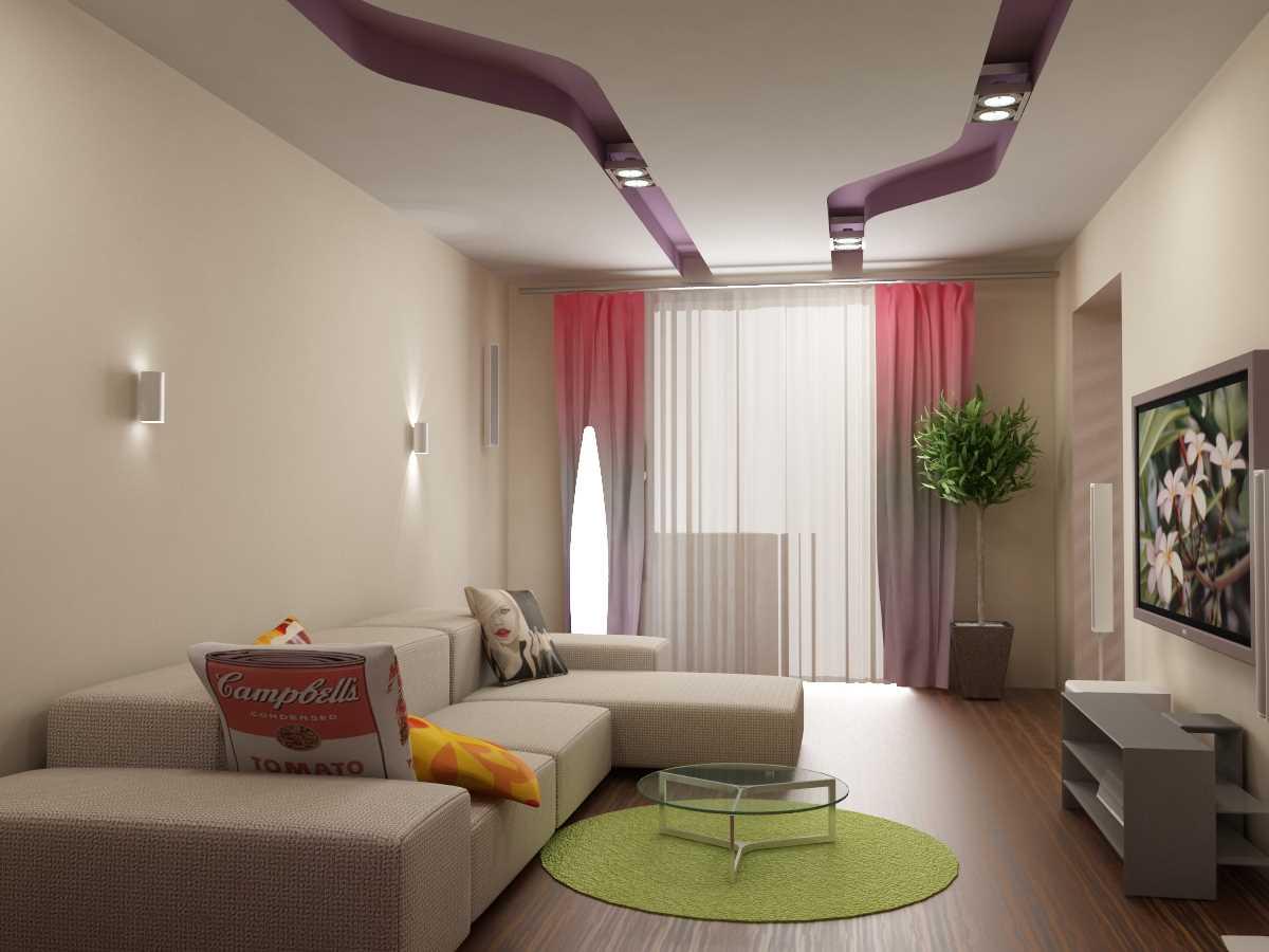 дизайн зала в квартире 17 квм фото 3
