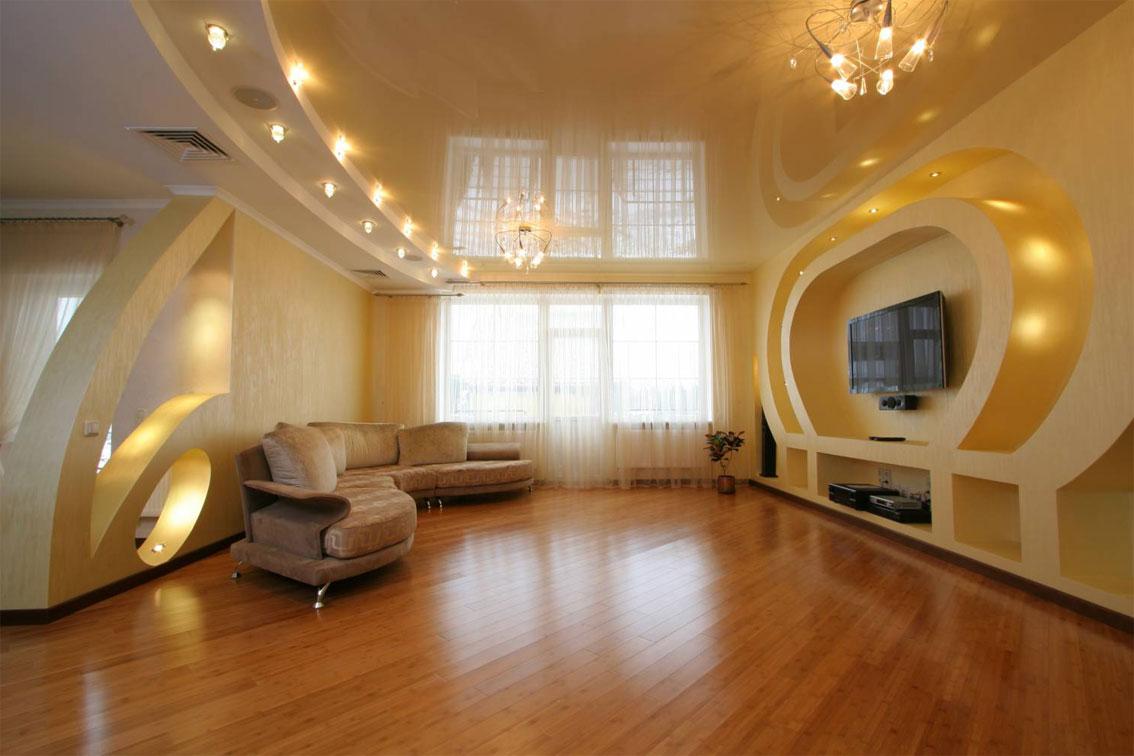 Фото дизайн потолков в залах