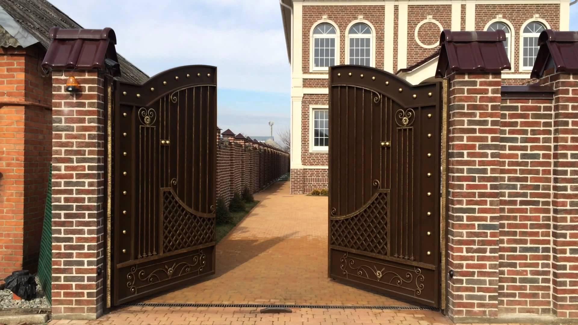 Тёплые металлические ворота своими руками фото 412