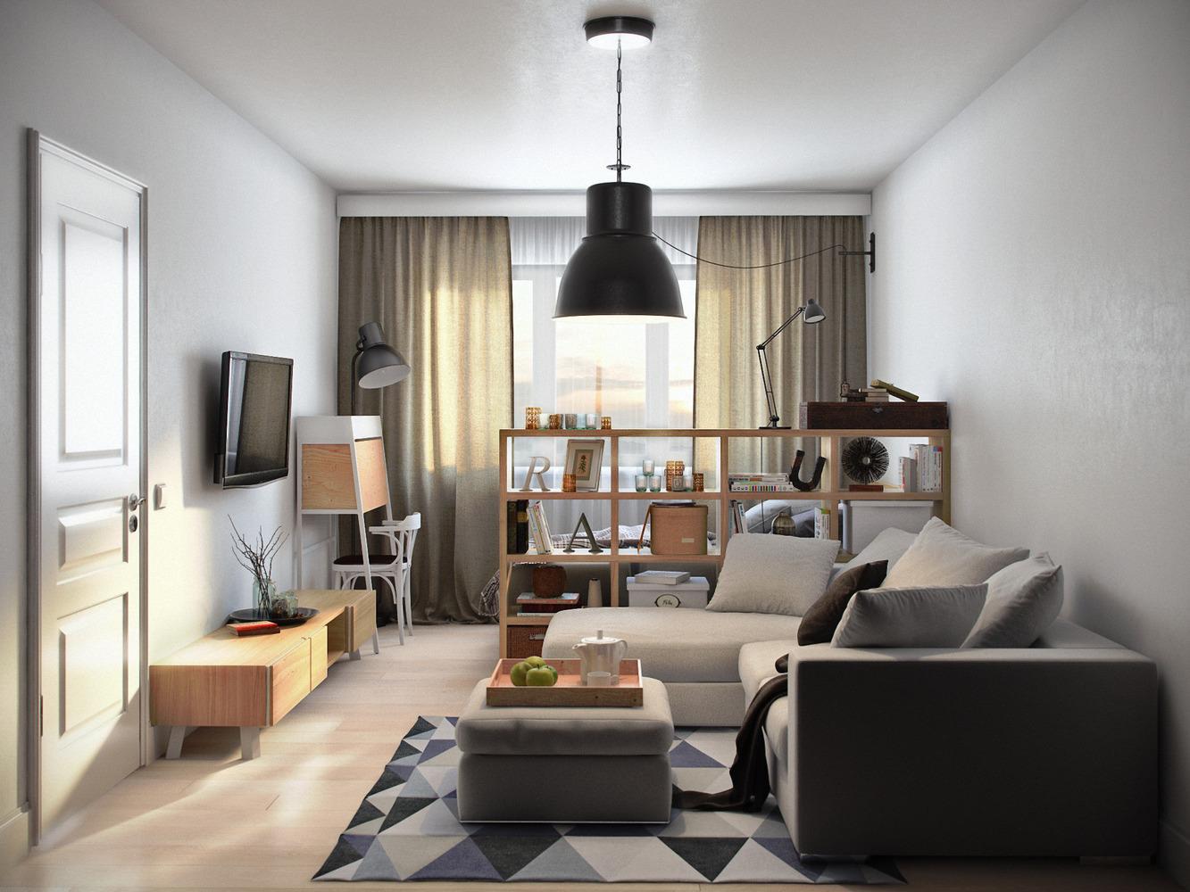 Дизайн квартиры однокомнатной: как правильно оформить интерьер